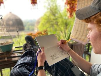 Hauz Khas sketching