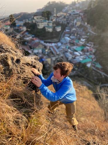 Peyton Climbing Landour Lookout