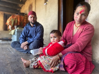 Mukesh, the Headman, and his family